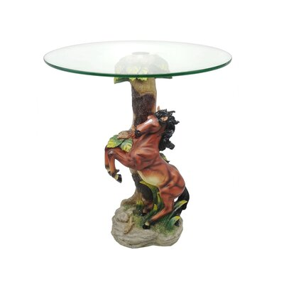 Loon Peak Acres Jumping Horse End Table