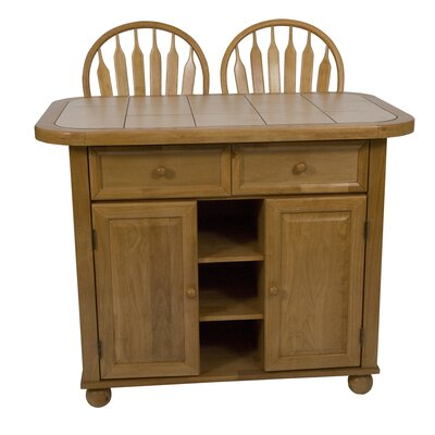 Loon Peak Lockwood Kitchen Island with Ceramic ..