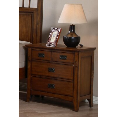 Loon Peak Elgin 4 Drawer Bachelor's Chest