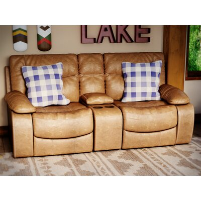 Loon Peak Simmons Upholstery El Capitan Double Motion Console Reclining Loveseat