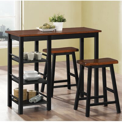 Loon Peak Bunch 3 Piece Counter Height Bistro Set