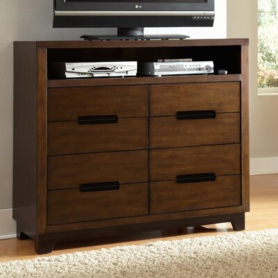 Brayden Studio Backman 4 Drawer Media Chest