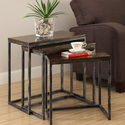 Trent Austin Design Wheeler 3 Piece Nesting Tables