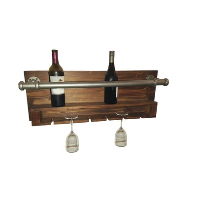 Trent Austin Design Industrial 2 Bottle Wall Mounted Wine Rack