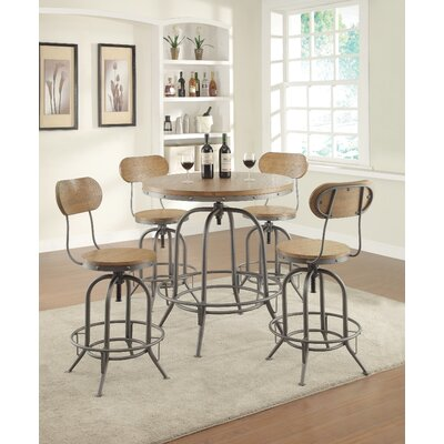 Trent Austin Design Doliver Adjustable Height Swivel Bar Stool (Set of 2)