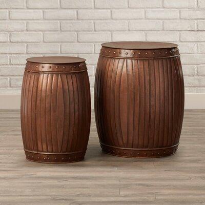 Trent Austin Design Shorney Round Barrel End Table (Set of 2)