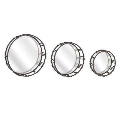Trent Austin Design 3 Piece Roman Time Mirror Wall Décor ...