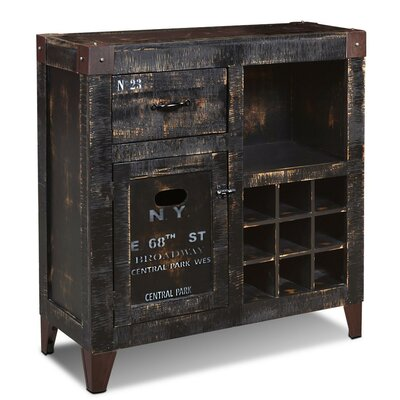 Trent Austin Design Truckee 9 Bottle Floor Wine Cabinet