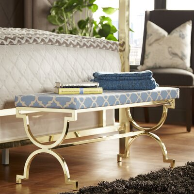House of Hampton Inge Metal Bedroom Bench