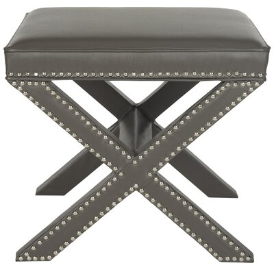 House of Hampton Palmer Leather Ottoman