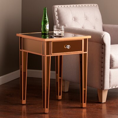 House of Hampton Norton Mirror End Table