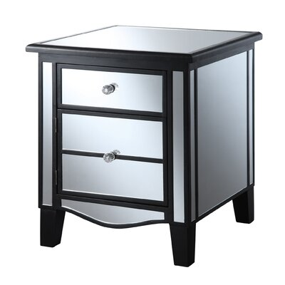 House of Hampton Halstead Mirrored End Table