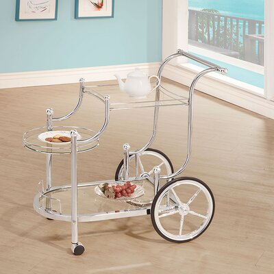 House of Hampton Hardy Serving Cart