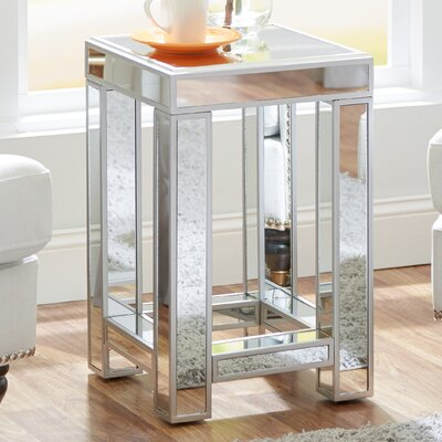 House of Hampton Moonstone Mirrored Side Table