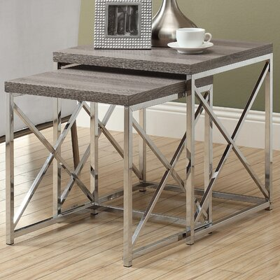 House of Hampton Oliver 2 Piece Nesting Table Set
