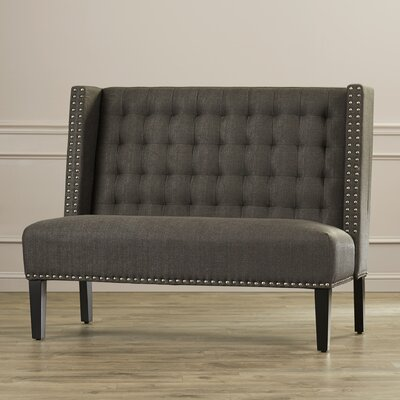 House of Hampton Aline Upholstered Banquette Bench in Charcoal