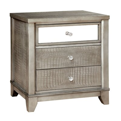 House of Hampton Whitworth 3 Drawer Nightstand