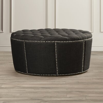House of Hampton Stockport Nailhead Trim Ottoman