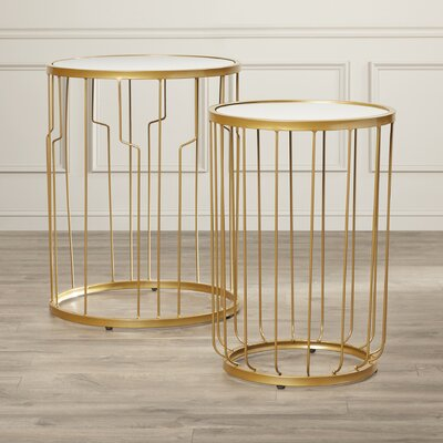 House of Hampton Dicie 2 Piece Nesting Ta..