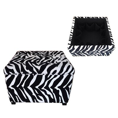 House of Hampton Velvain Zebra Ottoman