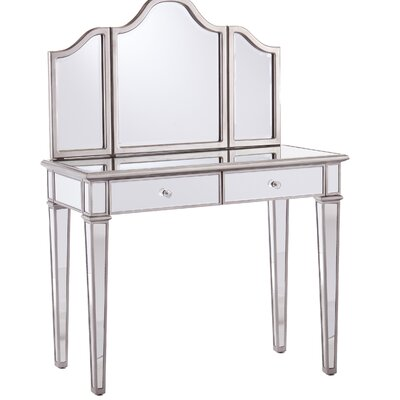 House of Hampton Kaila Vanity Set with Mirror