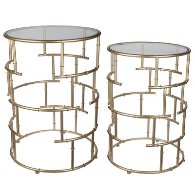 House of Hampton Whalley 2 Piece End Table Set
