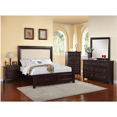 Cambridge Willow Storage Panel 5 Piece Bedroom Set
