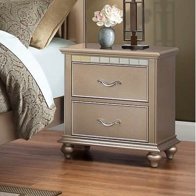 Simmons Casegoods Hollywood 2 Drawer Nightstand