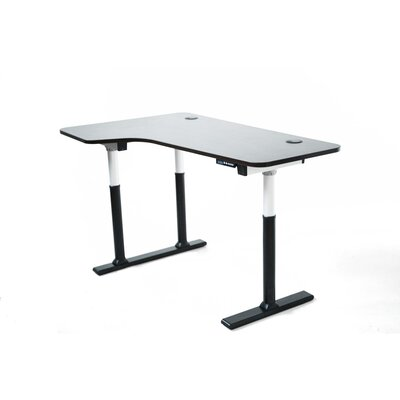 ApexDesk Vortex Series Electric Height Adjustable Corner Desk with Memory Controller