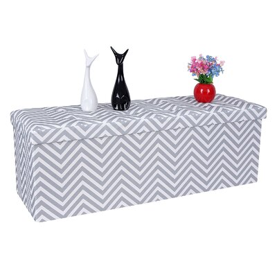 Songmics Folding Chevron Storage Ottoman