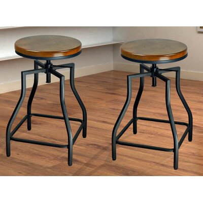 eHemco Adjustable Height Swivel Bar Stool (Set of 2)