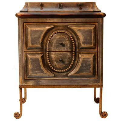 Peninsula Home Ansel 2 Drawer Nightstand