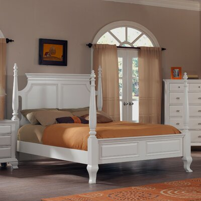 Roundhill Furniture Laveno Storage Four poster Bed
