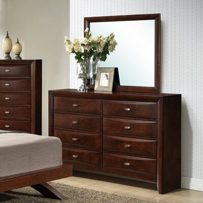 Roundhill Furniture Emily 8 Drawer Dresser with ..