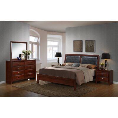 Roundhill Furniture Emily Panel 5 Piece Bedroom Set