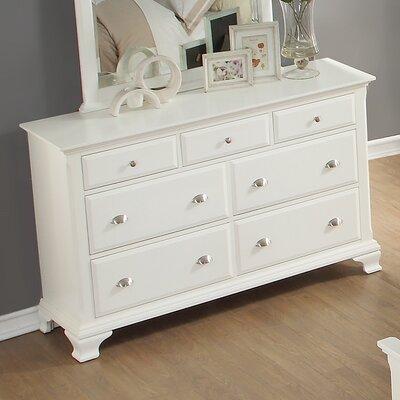 Roundhill Furniture Laveno 7 Drawer Dresser Wayfair