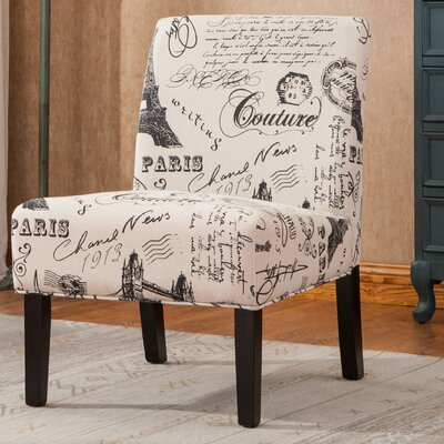 Roundhill Furniture Goodale Script Linen ..