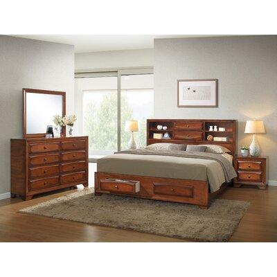 Roundhill Furniture Asger Queen Platform Customizable Bedroom Set