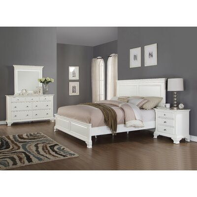 Roundhill Furniture Laveno Panel 4 Piece Bedroom..