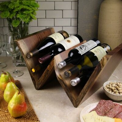 Martins Homewares Artisan Woods 6 Bottle Tabletop Wine Rack
