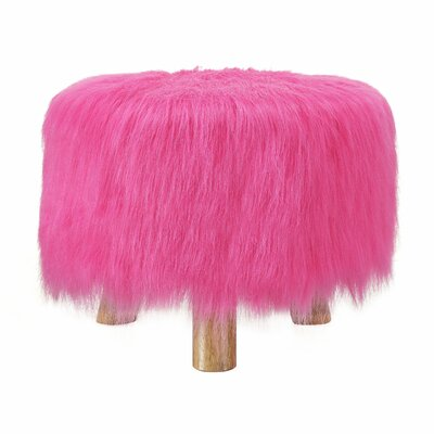 Bungalow Rose Sahraoul Faux Fur Stool