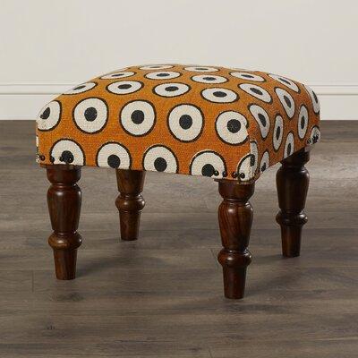 Bungalow Rose Samina Cotton Upholstered Ottoman
