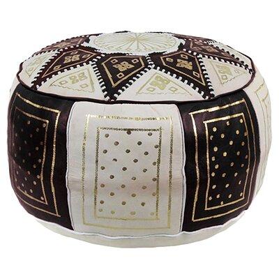 bungalow rose mouassine moroccan leather pouf ottoman reviews wayfair. Black Bedroom Furniture Sets. Home Design Ideas