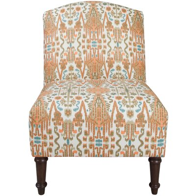 Bungalow Rose Ikat Bombay Camel Back Slipper Chair
