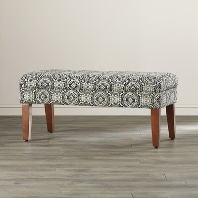Bungalow Rose Rafia Wood Storage Bedroom Bench