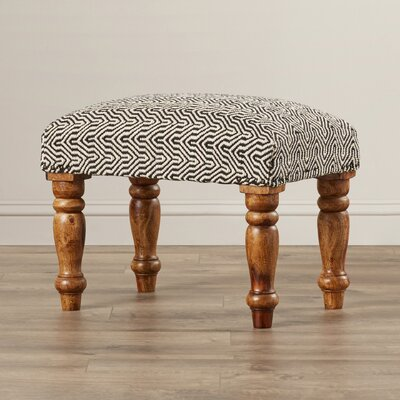 Bungalow Rose Manto Cotton Upholstered Ottoman Image