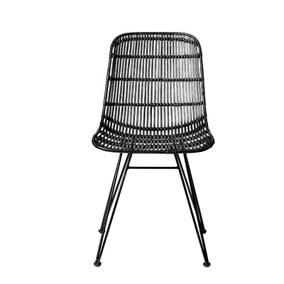 Bungalow Rose Acmetonia Braided Rattan Side Chair