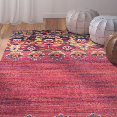 Bungalow Rose Rialto Red Area Rug Jb5xcuy