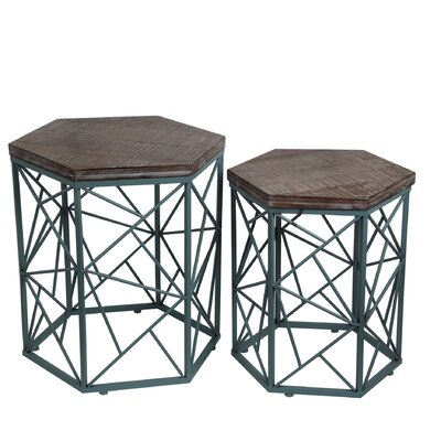 Bungalow Rose Brochu 2 Piece End Table Set