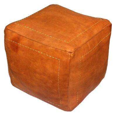 Bungalow Rose Mouassine Leather Pouf Ottoman